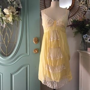Dresses & Skirts - ‼️SALE‼️ Yellow / White Lace Strappy Dress