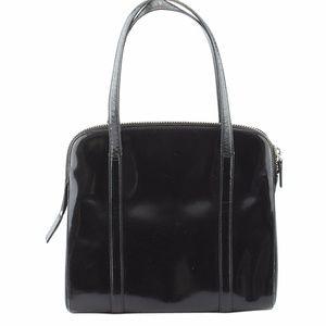 Prada V123 Black Patent Leather Tote (136517)