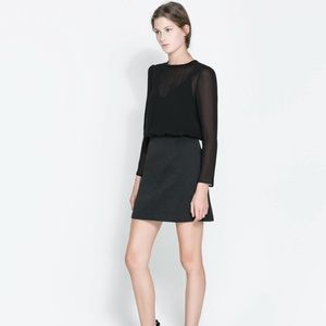 Zara mesh combination dress