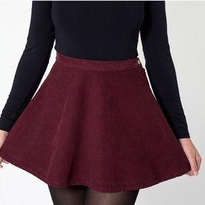 AA burgundy skirt