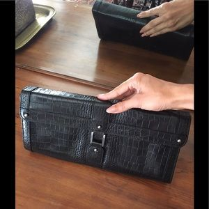 Kenneth Cole NWOT genuine leather black bag/clutch