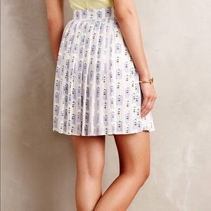 Anthropologie Harlyn Sunbather Pleated Skirt Sz M