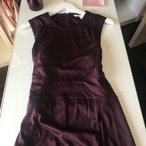 Diane Von Furstenberg Wine Color Dress