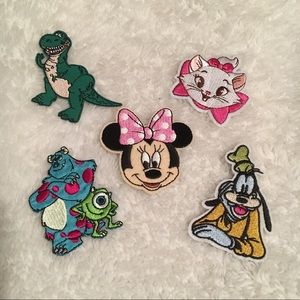 Disney Iron On Embroidered Patches