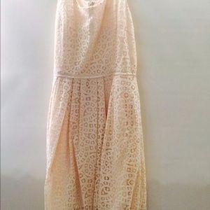 J Crew Ivory crocheted dress