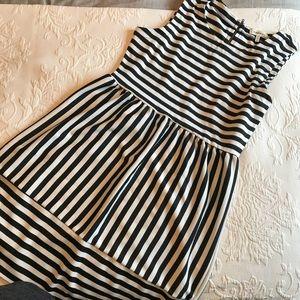 Monteau • Black and White Striped Dress