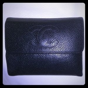 Authentic CHANEL CAVIAR Leather Vintage Wallet