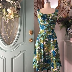 ‼️SALE‼️ London Times Blue/Green Floral Dress