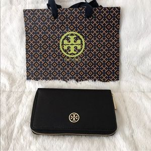 Tory Burch Robinson Mini Wallet Leather NWT New