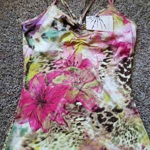 NEW Boston Proper made to be seen tank flower xs