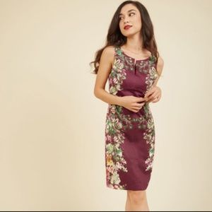 Modcloth Of Garland Variety floral dress M NWOT