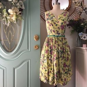‼️SALE‼️ Eshakti Yellow Cherry Blossom Dress