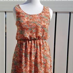 Pink Floral Hi Low Sun Dress Size XL