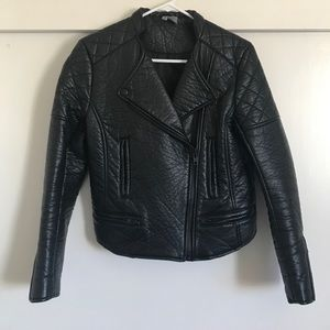 H&M Divided faux leather moto