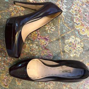 Miu Miu patent leather platform heels