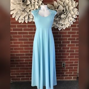 VTG House of Bianchi powder blue Empire gown