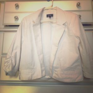 Jackets & Blazers - White cropped blazer jacket