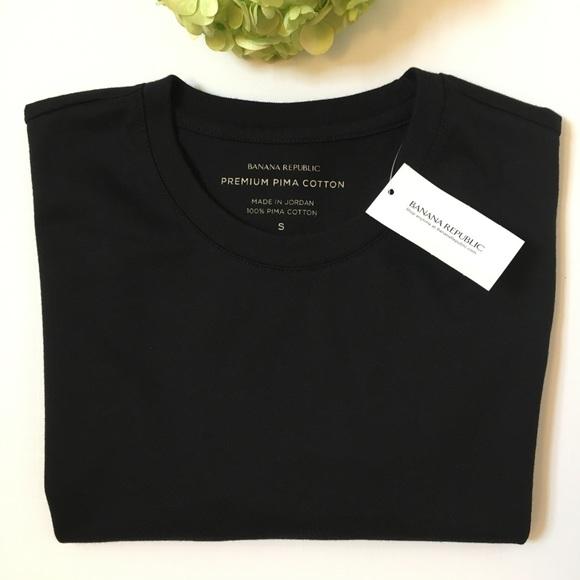 c303a58d Banana Republic Shirts | Premium Pima Cotton Tee Nwt 23 | Poshmark