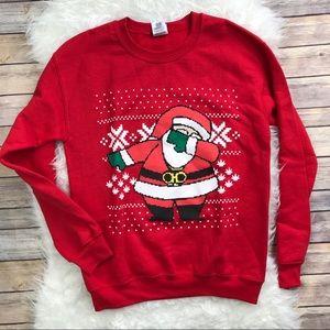 Other - Dabbing Santa Christmas Sweatshirt