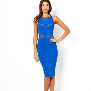Asos Blue bodycon Midi Dress