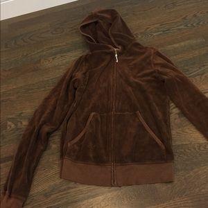 Juice Couture brown zip up hooded sweatshirt