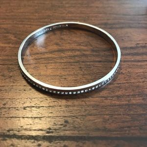 Kate Spade Silver Crystal Thin Bangle Bracelet
