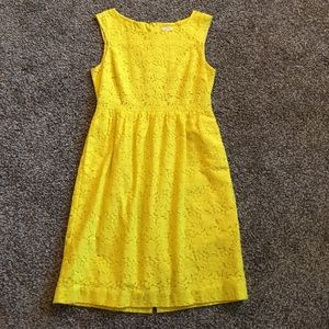 J. Crew yellow lace dress size 6