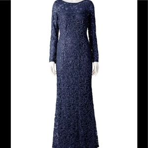 NEW MARINA navy sequin dress gown-holidays rt $120