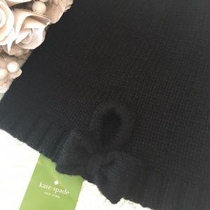 NWT kate spade Gathered Bow Beanie - Black