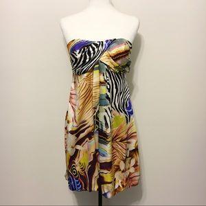 Cache Exotic Print Bubble Dress