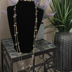 BR double strand long necklace
