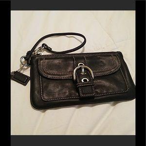 Bran New Vintage Leather Coach Wristlet