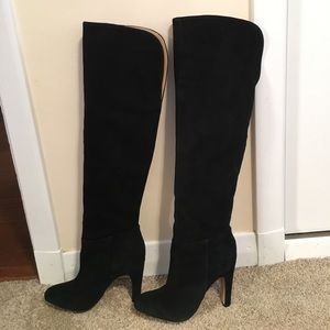 Anthropologie Pull on Over the Knee Boots sz 9