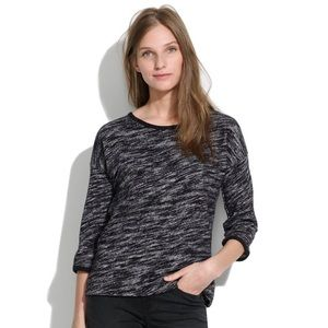 Madewell Marled 'Shadetree' Black & Gray Sweater