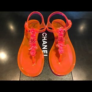 Chanel jelly sandals never used!