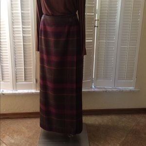 Talbots long wrap skirt