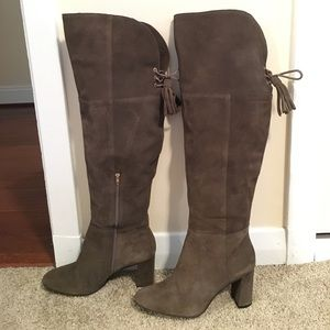 Anthropologie  Tassle Over-the-Knee boots sz 9