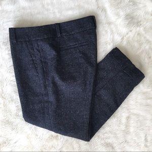 NWT LOFT Petite Marisa Tweed Pencil Pant Blue