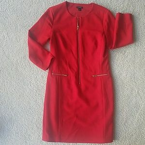 Ann Taylor red dress