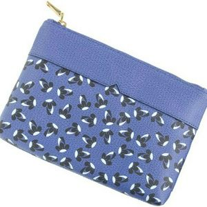 J.Crew Blue Leather Pouch Clutch