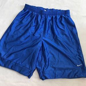Nike Men's Bright Blue Drawstring Basketball Short