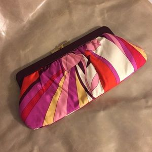 Banana Republic Colorful Pucci Print Clutch Purse