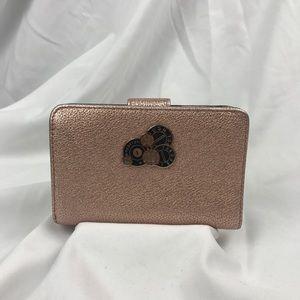 Henri Bendel Uptown Rose Gold Wallet