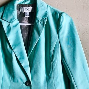 Seafoam Green Blazer