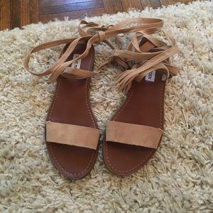 Steve madden lace up sandals