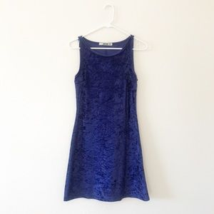 90s Vintage Crushed Velvet Mini Dress