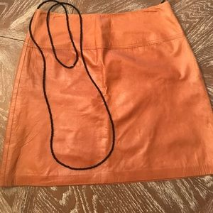 pure leather cache skirt