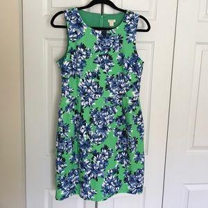 J Crew Floral Print Sleeveless Dress.