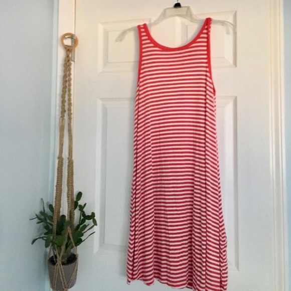 Old Navy Dresses & Skirts - Red and White Stripe Sleeveless Swing Dress