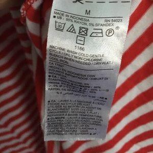Old Navy Dresses - Red and White Stripe Sleeveless Swing Dress
